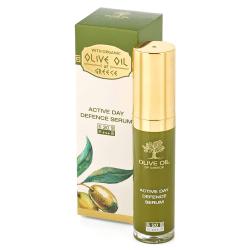 Das ist das Olive Oil of Greece Aktives Tagesschutz Serum SPF 20 von Biofresh aus Bulgarien.