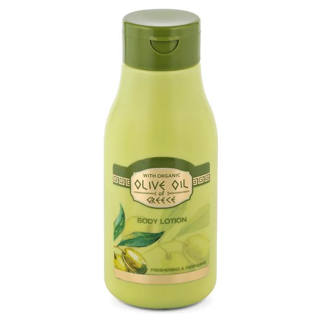 Das ist die Olive Oil of Greece Body Lotion von Biofresh aus Bulgarien.