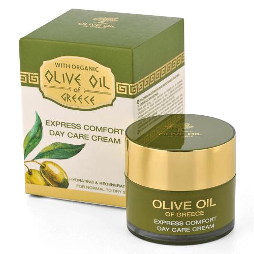 Das ist die Olive Oil of Greece Express Comfort Tagescreme von Biofresh aus Bulgarien.