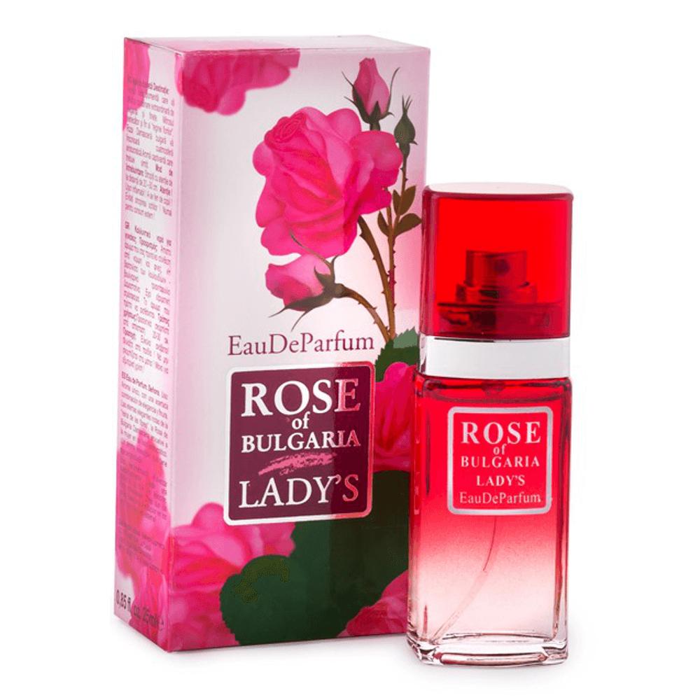 Das ist das Eau De Parfum Ladys 25ml von Rose of Bulgaria biofresh.