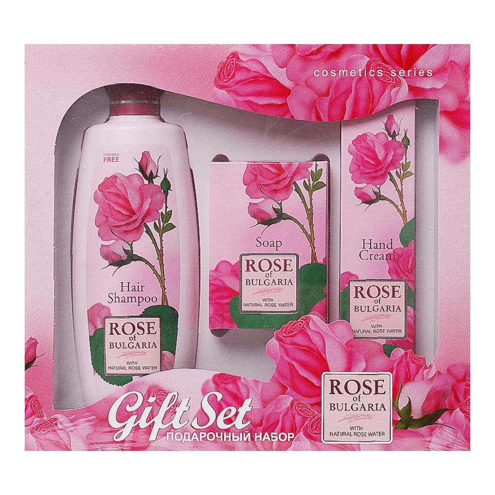 Biofresh Rose of Bulgaria Shampoo, Seife, Handcreme Geschenkset