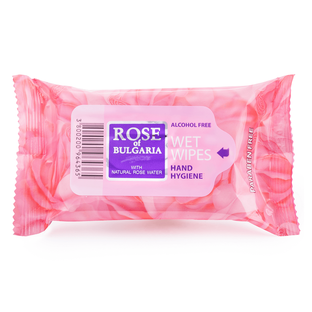 Biofresh Rose of Bulgaria Feuchttücher Hand Hygiene
