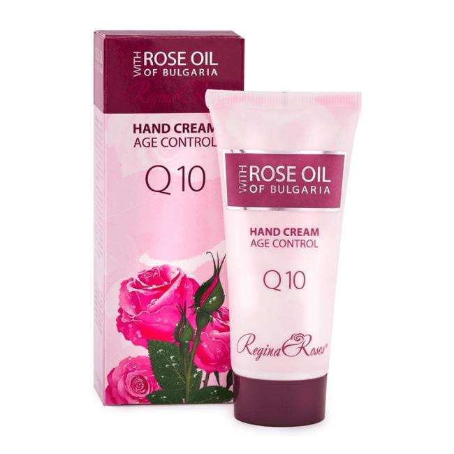Das ist die Rose Oil of Bulgaria Handcreme Anti Age Q10 von Biofresh aus Bulgarien.