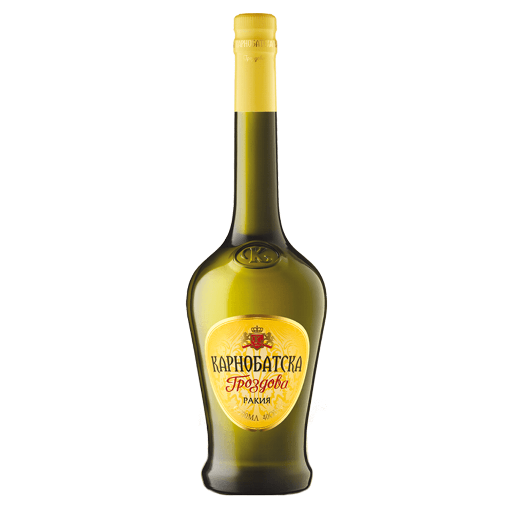 Karnobatska Grozdova Rakija von Vinprom Karnobat im alten Design.