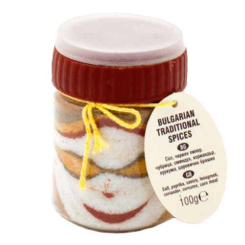 Original traditionelles Buntes Salz Scharena Sol Motiv 2