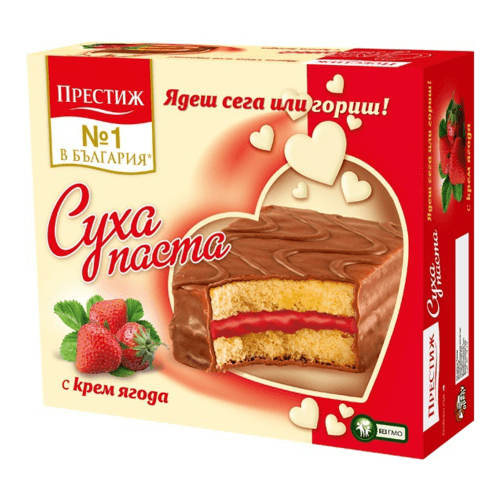 Prestige Kuchenriegel Erdbeercreme