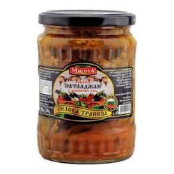 Misota gebratene Auberginen in Tomatensauce
